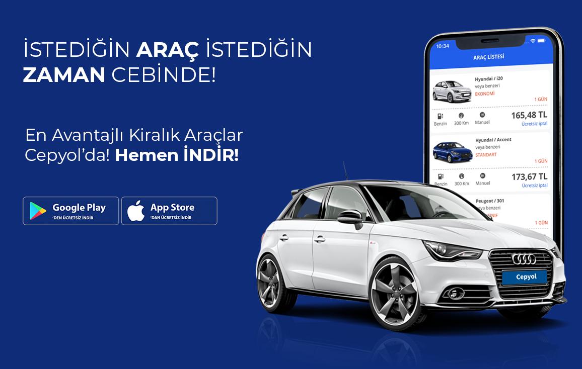 Araç Kiralamanız Cepyol Mobil Uygulamasında!
